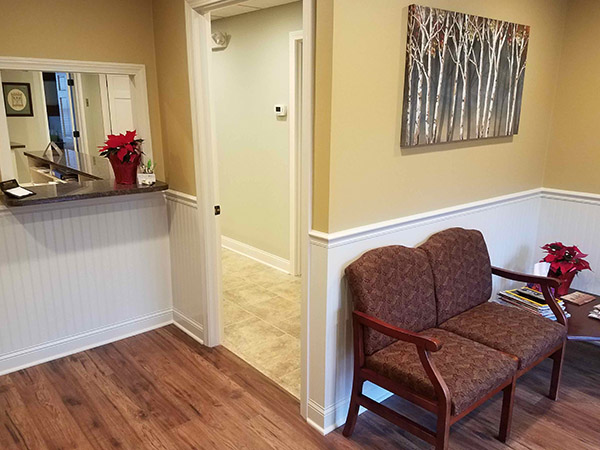 Waiting room for patients at  Wendy Sanger DMD Cosmetic + Family Dentistry, in Warren, NJ
