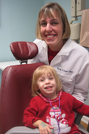 Happy child at Wendy Sanger DMD Cosmetic + Family Dentistry